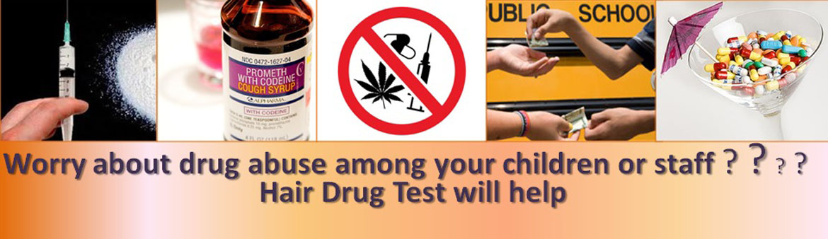 Hair drug test screens for 7 types of at least 22 drugs!!